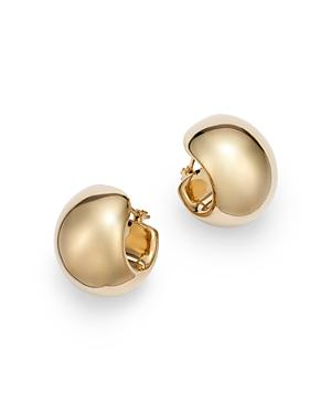 Bloomingdale's Wide Huggie Hoop Earrings In 14k Yellow Gold - 100% Exclusive
