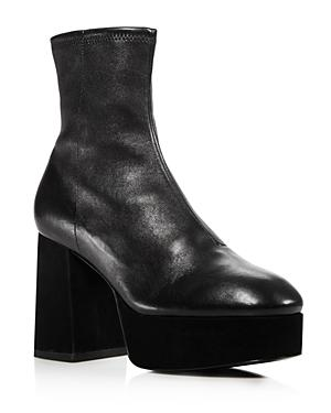 Opening Ceremony Carmen Stretch Leather Platform Booties
