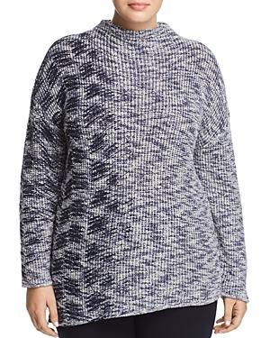 Nic And Zoe Plus Asymmetric Marled Sweater