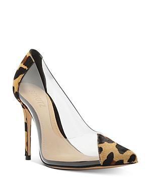 Schutz Women's Cendi Snake-print & Clear Pumps