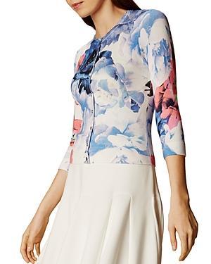 Karen Millen Floral Compact Cardigan