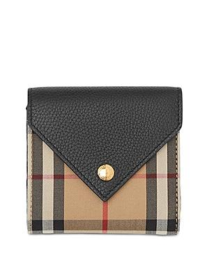 Burberry Vintage Check & Leather Trifold Wallet