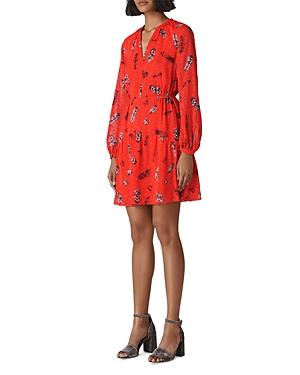 Whistles Alair Feather-print Dress