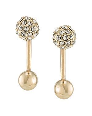 Abs By Allen Schwartz Pave Ball Earrings