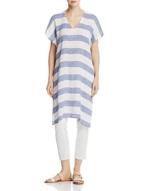 Eileen Fisher Petites Organic Linen Stripe Tunic