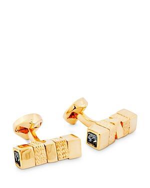 Zegna Rotating Herringbone Square Cylinder Cufflinks