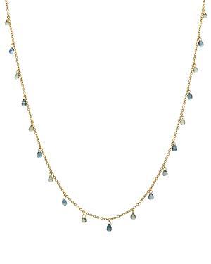 Gurhan 24k/22k/18k Yellow Gold Multicolor Sapphire Briolette Statement Necklace, 16-18