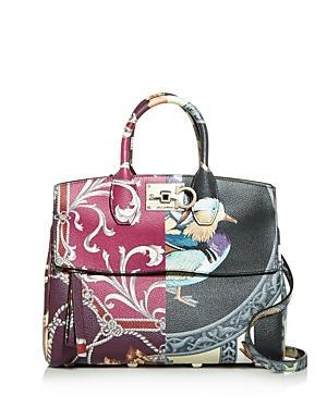 Salvatore Ferragamo Studio Medium Scarf Leather Should Bag