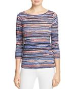 Three Dots Abstract Stripe Top