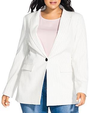 City Chic Plus Pinstriped Blazer