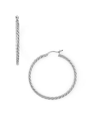 Argento Vivo Braided Hoop Earrings