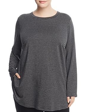Eileen Fisher Plus Striped Tunic Top