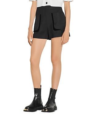 Sandro Ellie High Waisted Shorts