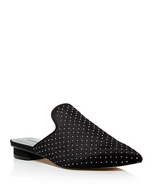 Rebecca Minkoff Women's Chamille Studded Pointed Toe Mules