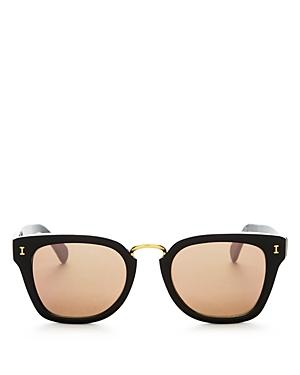Illesteva Positano Mirrored Square Sunglasses, 49mm