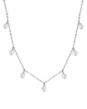 Aqua Bead Cultured Freshwater Pearl Collar Necklace, 15.5-17.5 - 100% Exclusive