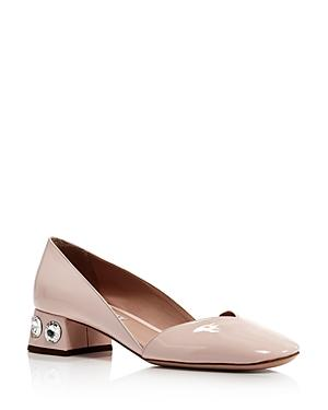 Miu Miu Women's Rocchetto Crystal Embellished Pumps