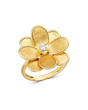 Marco Bicego 18k Yellow Gold Petali Diamond Flower Ring