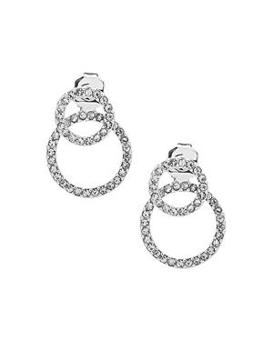 Lauren Ralph Lauren Pave Double Ring Earrings