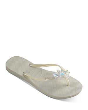 Havaianas Women's Slim Crystal Mineral Flip Flop Sandals