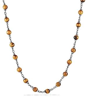 David Yurman Spiritual Beads Rosary Necklace In Tiger's Eye