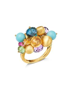 Marco Bicego 18k Yellow Gold Gemstone Cluster Cocktail Ring