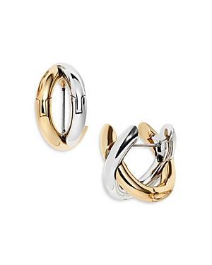 Baublebar Aiko Two Tone Crossover Hoop Earrings
