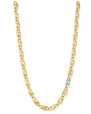 Marco Bicego 18k Yellow Gold & 18k White Gold Legami Diamond Link Collar Necklace, 17.75