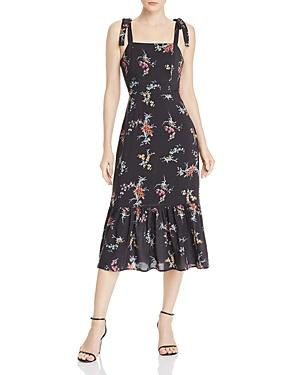 Paige Tolucah Orchid-print Dress In Black
