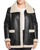 Vince Camuto Plus Faux Shearling Moto Jacket
