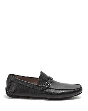 Salvatore Ferragamo Men's Amerrevival Leather Moc Toe Drivers - Wide