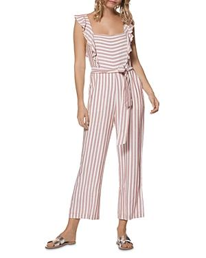 Paige Marino Sleeveless Striped Cropped Jumpsuit