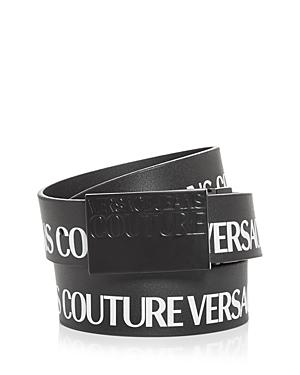 Versace Jeans Couture Men's Institutional Logo Buckle Leather Belt