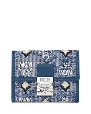 Mcm Vintage Jacquard Trifold Wallet