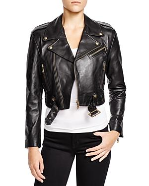 Rebecca Minkoff Harpur Cropped Leather Jacket
