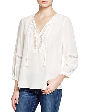 Joie Aline Silk Peasant Top