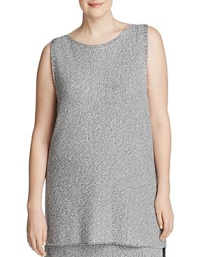 Eileen Fisher Plus Marled High Low Tunic - 100% Exclusive