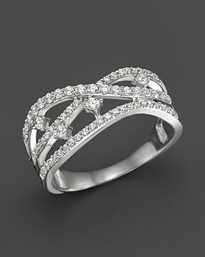Diamond Multirow Band In 14k White Gold, .50 Ct. T.w.