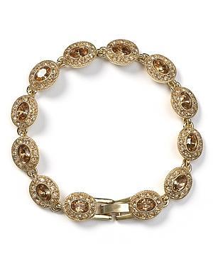 Carolee Topaz Oval Stone Flex Bracelet