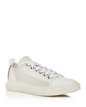 Giuseppe Zanotti Men's Blabber Transparent Low-top Sneakers