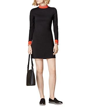 Karen Millen Striped-trim Ponte Dress
