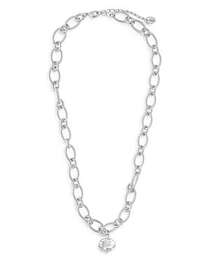 Sterling Forever Chain Link Pearl Pendant Necklace, 18