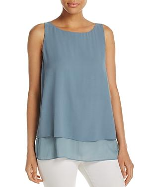 Eileen Fisher Petites Layered Look Silk Shell Top