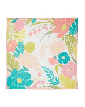 Kate Spade New York Tropical Floral Cotton & Silk Square Scarf