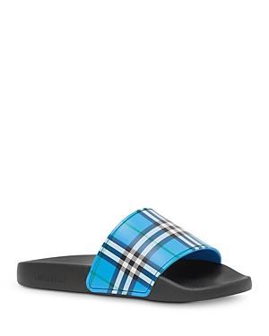 Burberry Women's Check Print Slide Sandals