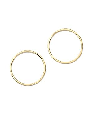 Mateo 14k Yellow Gold Circle Earrings