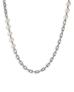 David Yurman Sterling Silver Dy Madison Cultured Freshwater Pearl Chain Necklace, 36