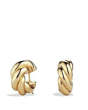 David Yurman Sculpted Cable Small Earrings In 18k Gold