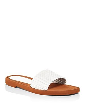 Stuart Weitzman Women's Wova Slide Sandals