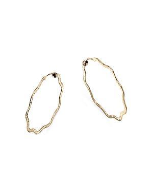 Bloomingdale's Wavy Hammered Endless Hoop Earrings In 14k Yellow Gold - 100% Exclusive